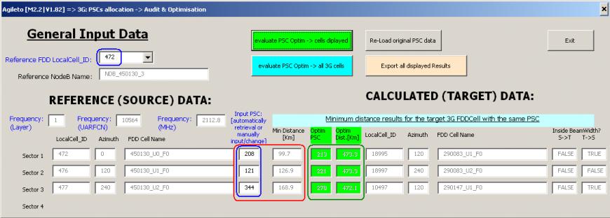 Agileto - NW Optimisation tool   Agileto com   Screenshots